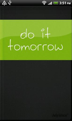 Do it Tomorrow screenshot 1