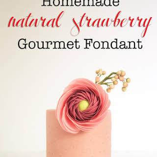 Strawberry Gourmet Fondant.