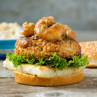 Gulf Shrimp & Grits Burger.
