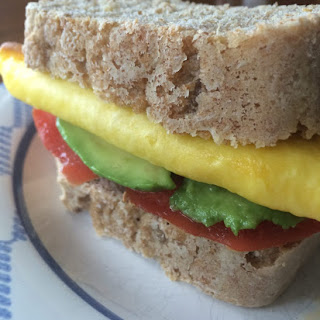 Egg, Avocado, Tomato and Cheese Sandwich