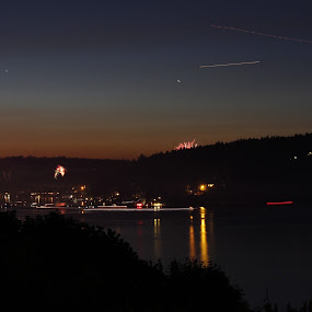 by Darrin McNett - Uncategorized All Uncategorized ( lights, water, gig harbor, 4th of july, night,  )