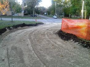 Photo: Gravel base of shared use path 10-22-2013