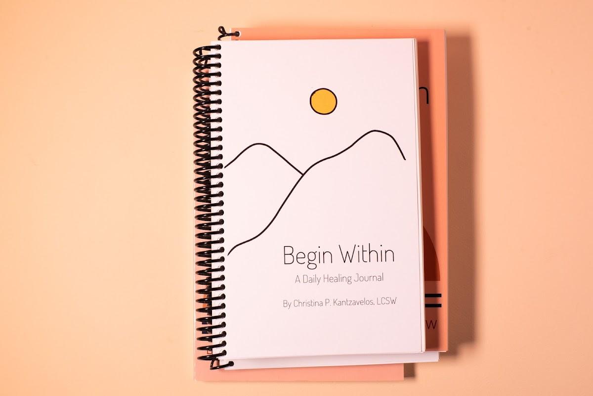 Begin Within Food and Symptom Tracker (Wellness Joirnal) - White