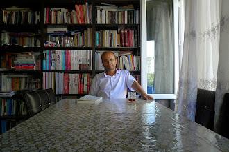 Photo: Ahmad Kani, teacher and journalist, the owner of Wêje û Rexne (Literature & Critic) Journal, Diyarbakir 2014