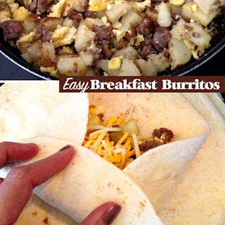 Classic Eggs and Sausage Breakfast burritos