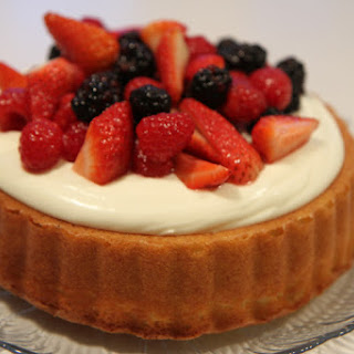 Mary Ann Cake with Mascarpone and Berries.