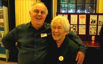 Photo: Roger Hollier and Heather Cook - two of Nottingham CHE's original committee