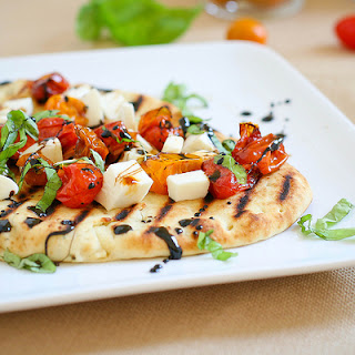 Caprese Pizzas with Roasted Tomatoes