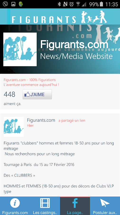 Figurants.com les castings- screenshot
