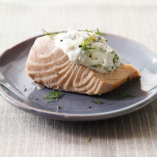 Cold Poached Salmon with Caper-Mayonnaise
