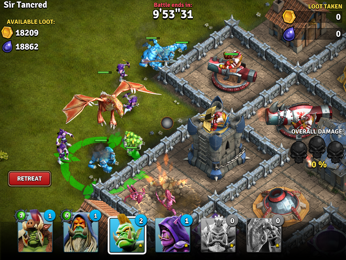 Heroes of War: Orcs vs Knights- screenshot