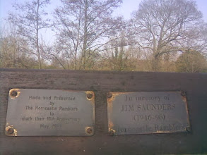 Photo: Horncastle Ramblers memorial bench on the River Waring bank.