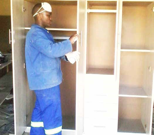 Manqoba Ngwenya is on his way to establishing a lucrative furniture business.