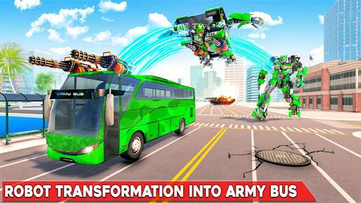 Army Bus Robot Transform Wars u2013 Air jet robot game screenshots 1