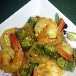 Indian Shrimps with Okra