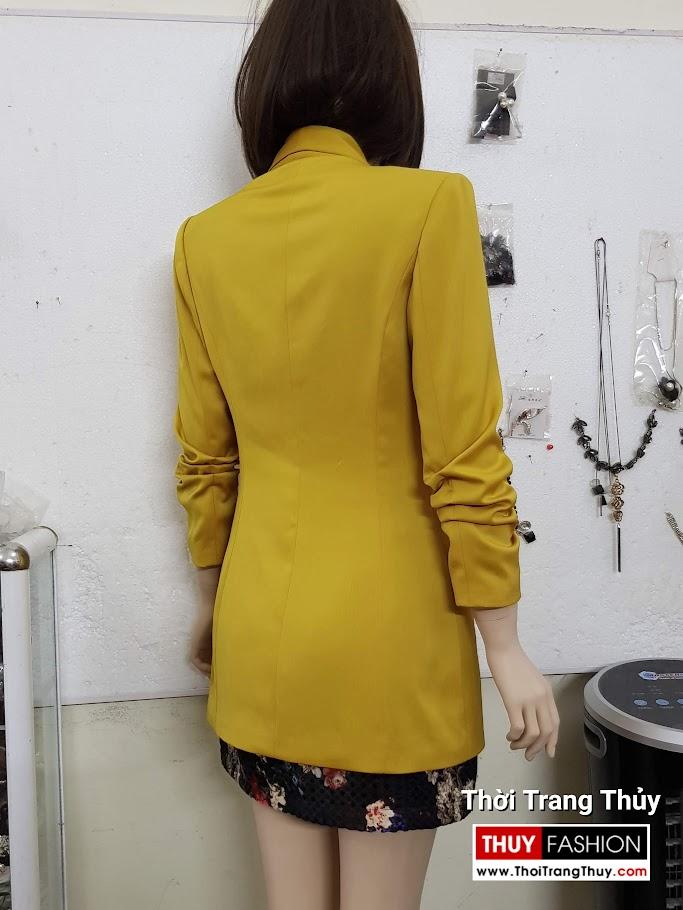 Áo vest nữ vải lụa tay xếp ly V691 thời trang thuỷ 2