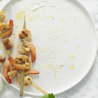 Shrimp and Scallop Skewers with Aioli.