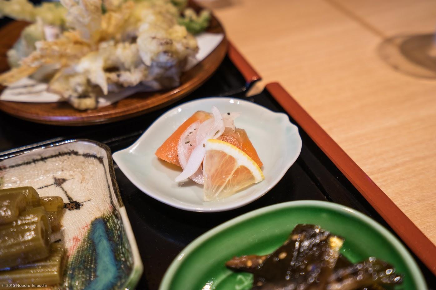 上川産虹鱒のマリネ