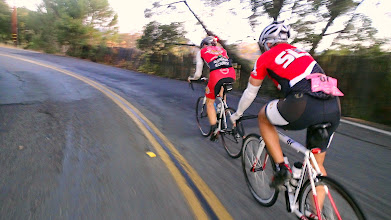 Photo: Carl Sanders (front) and Rod Palomino climbing the lower slope of Mt Tam just above Fairfax