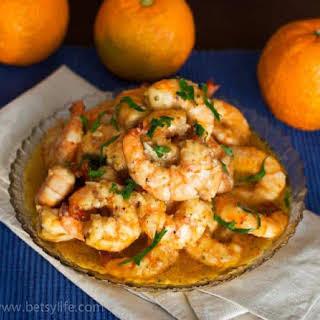Light & Healthy Cuban Mojo Shrimp.