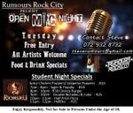 Open Mic Nights : Rumours Rock City