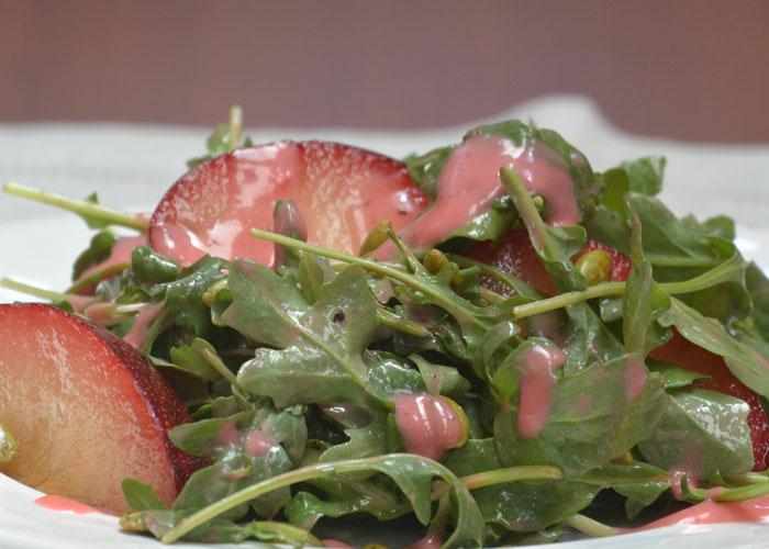 Plum and Arugula Salad Recipe