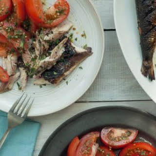 Grilled Mackerel with Tomato Salad.