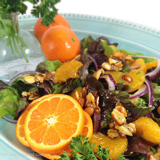 Mandarin Candied Almond Salad