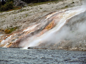 Photo: It actually dumps quite a lot of hot water straight into the river