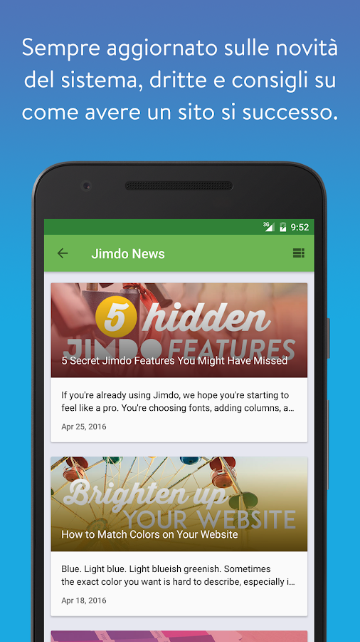 Jimdo Creator- screenshot
