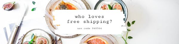 Free Shipping Breakfast - Etsy Shop Big Banner Template