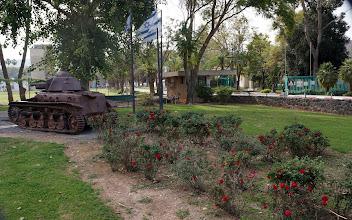 Photo: Destroyed Jordanian tank memorial 1947 War of Independence