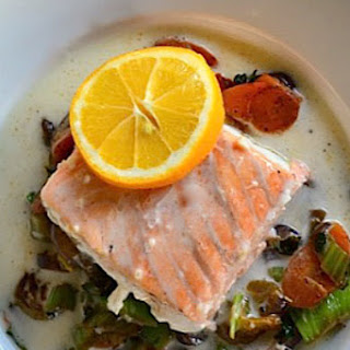 Baked Salmon with Coconut Broth.