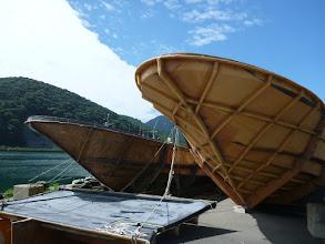 Photo: 船を造る時の「型枠」です。 船の大きさに応じて5~6個ありました。