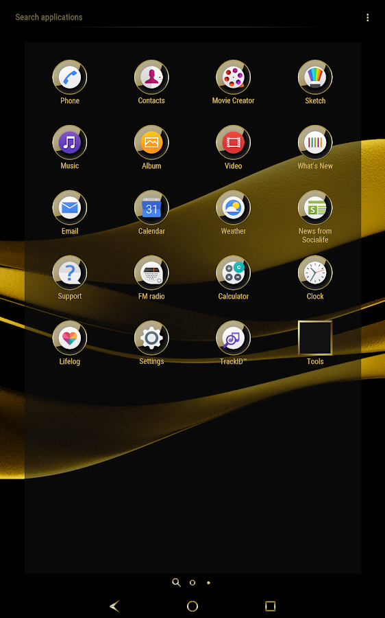 Black & Gold Theme for Xperia- screenshot