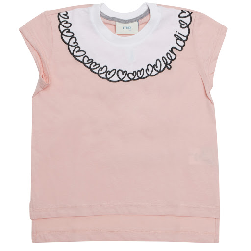 Primary image of Fendi Embroidered Heart T-shirt