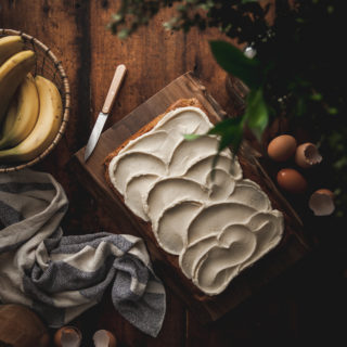 One-Bowl Browned Butter Banana Cake + Mascarpone Buttercream Recipe