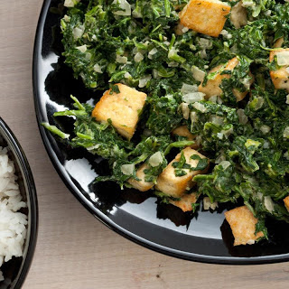 Saag with Tofu.