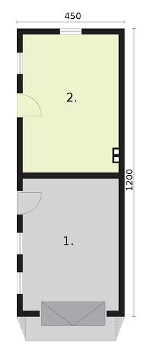 G1m bis 2 - Rzut garażu