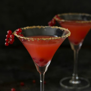 Red Currant Margarita with Ginger Sugar.