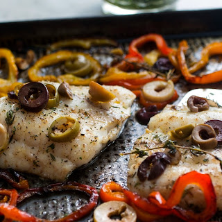 Roasted Hake With Sweet Peppers