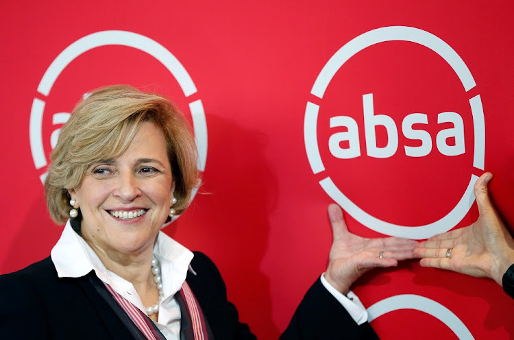 Absa Chief Executive Maria Ramos poses for a photograph during a rebranding launch where Barclays Africa changed its name back to Absa on Wednesday, at the Johannesburg stock exchange in Sandton, South Africa, July 11, 2018.
