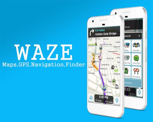 GPS Waze Maps , Finder , Traffic , Alerts