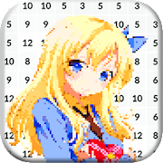Pixel Art Manga Girls: Color by Number icon