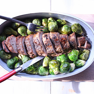 Pork Tenderloin with Pineapple Brussel Sprouts