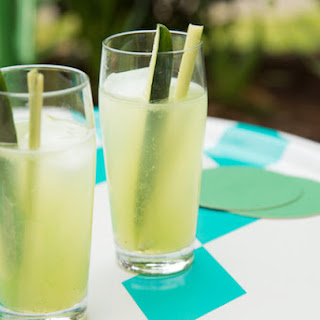 Lemongrass Cucumber Cocktails.