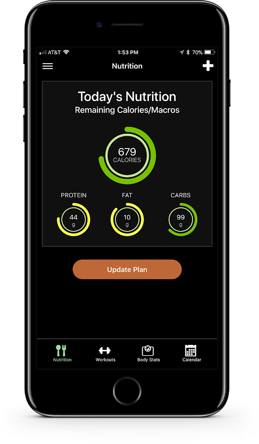 MyFitStatus- screenshot