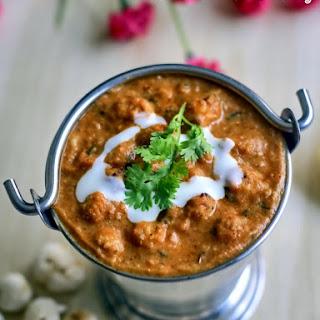 Lotus Seeds Curry   Phool Makhana Curry   Side Dish for Roti   Lotus Seeds Recipes   Phool Makhana Recipes.