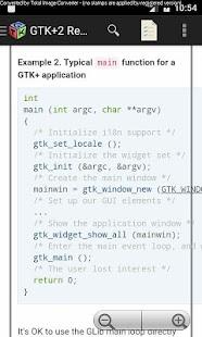 GTK+2 Reference Manual - náhled