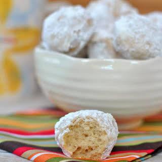 Powdered Sugar Donut Holes.